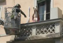 labrador abbandonato balcone